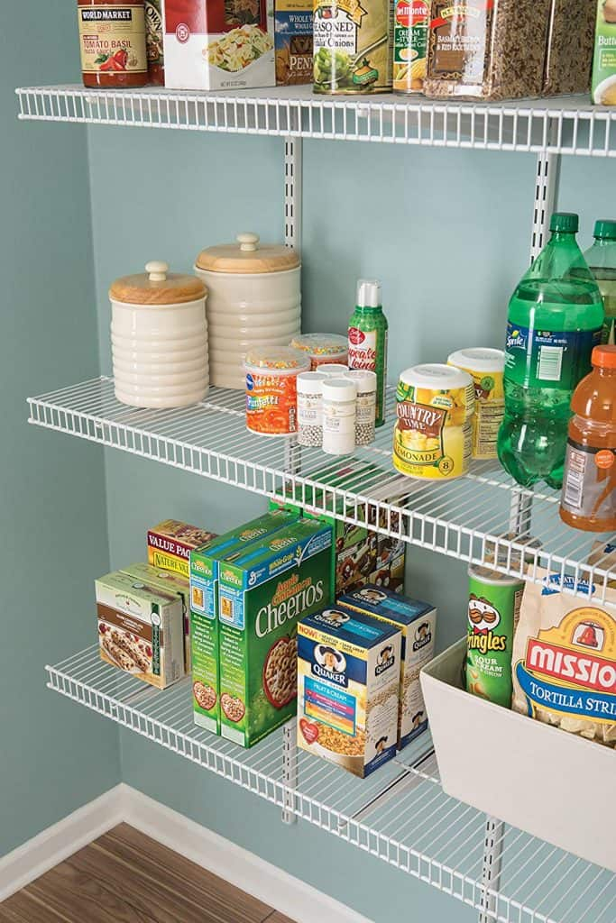 Pantry shevling adjustable
