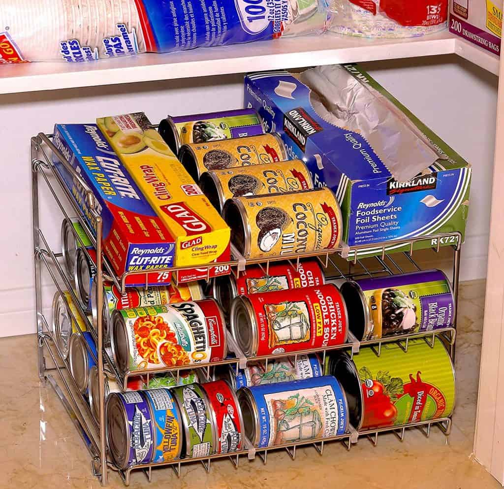 How to organize a pantry - stackable soup organizers