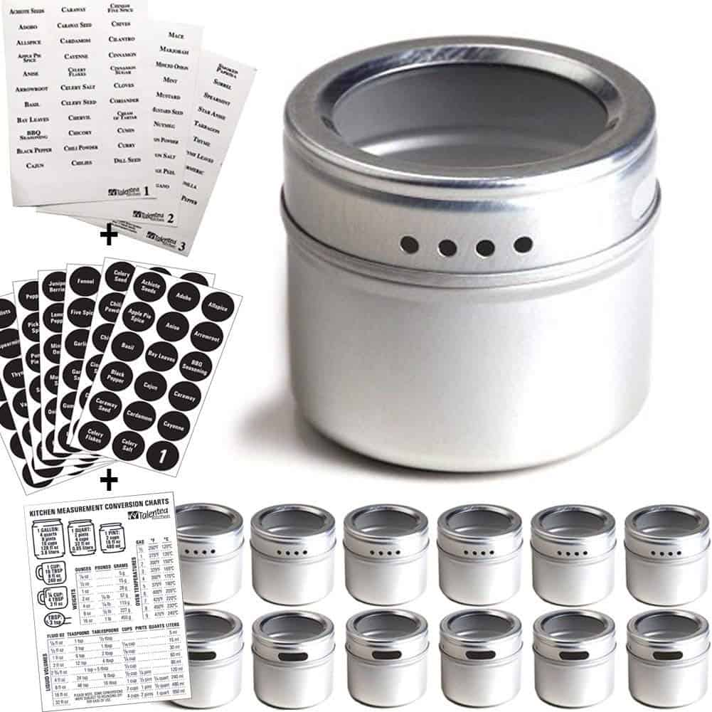 Spice Storage ideas - magnetic jars that you can stick to magnetic bars or even to the fridge