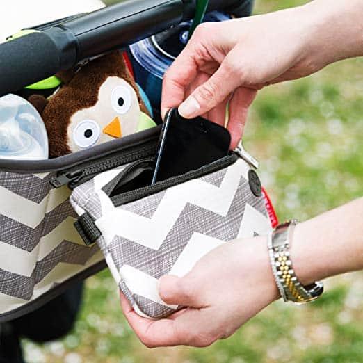 Stroller Accessories - stroller organizer with zip-off phone pocket