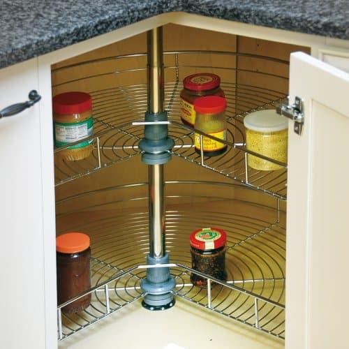 Kitchen Cabinet Organizers - lazy susans wire rack