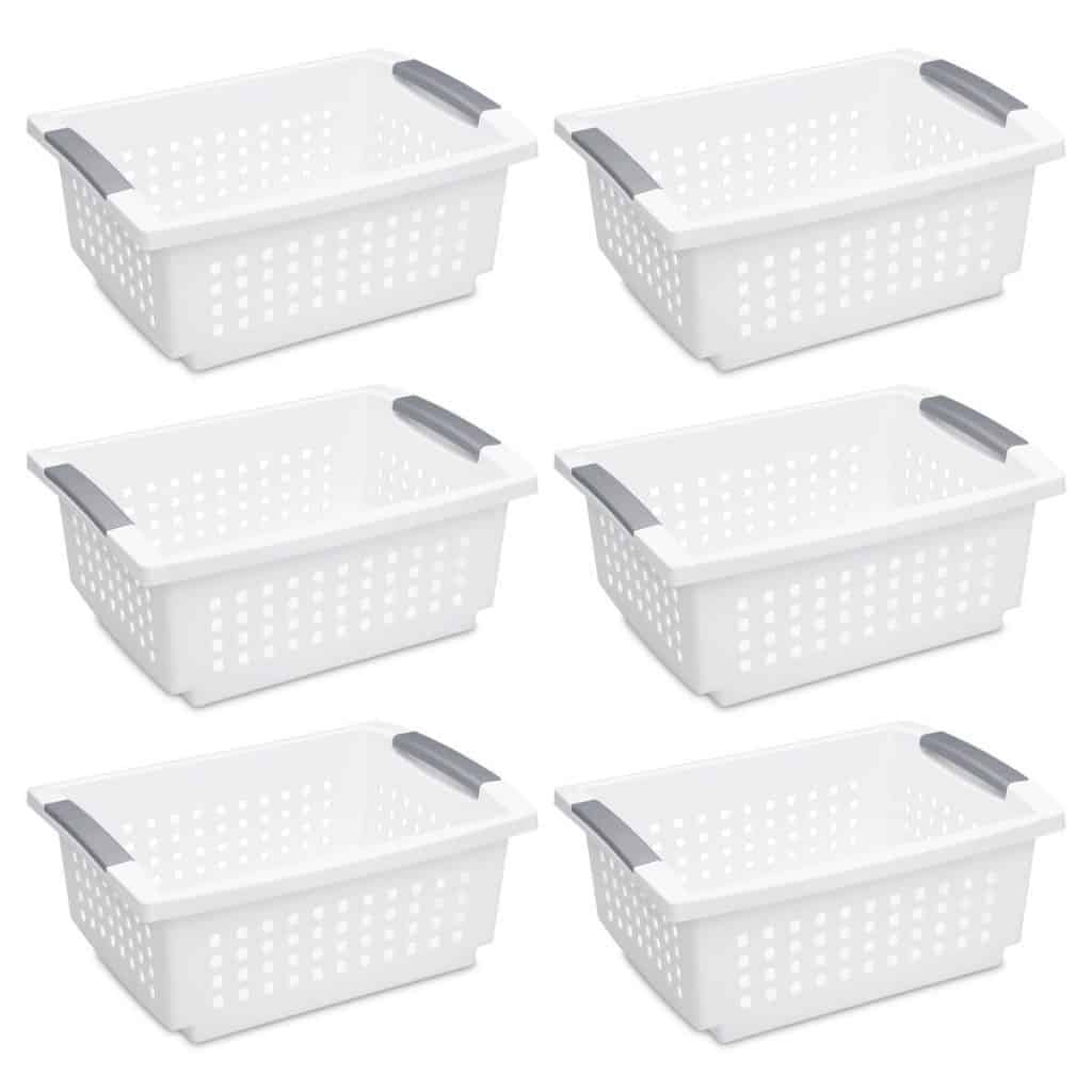 Kitchen Cabinet Organization Ideas - tidy plastic baskets
