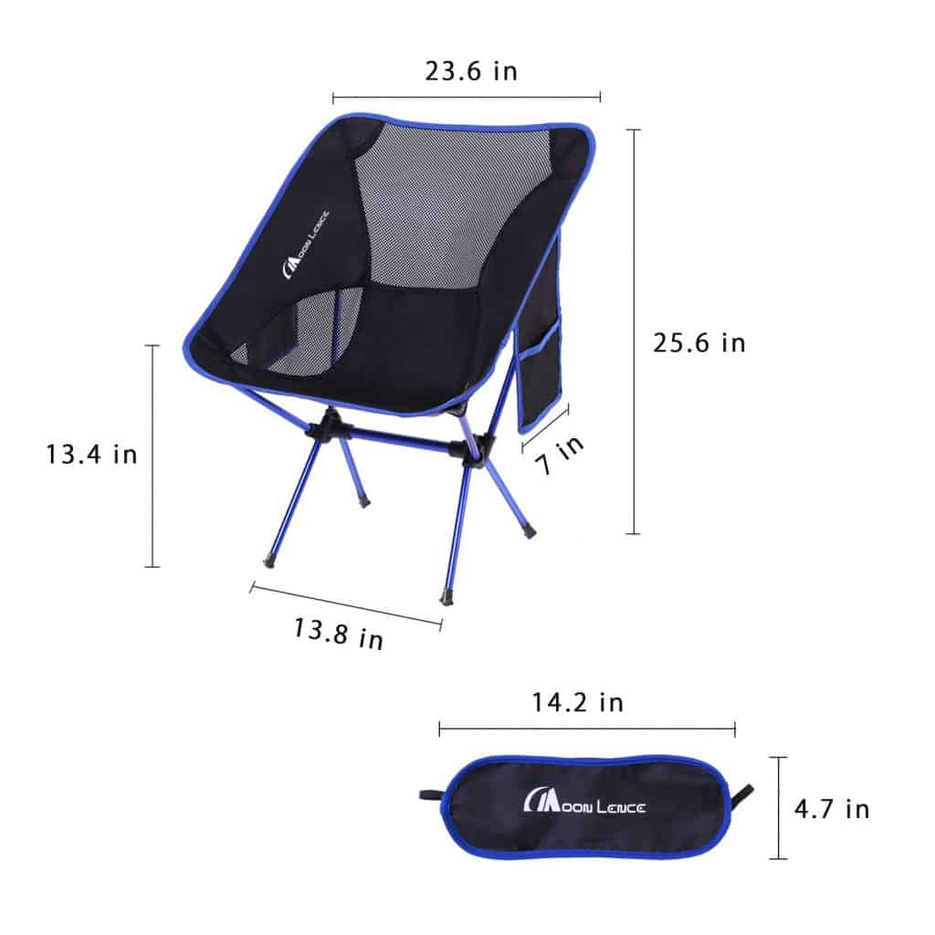 Folding backpacking chair