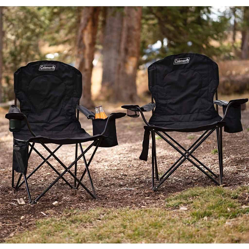 Camping chairs - folding Coleman camping chairs