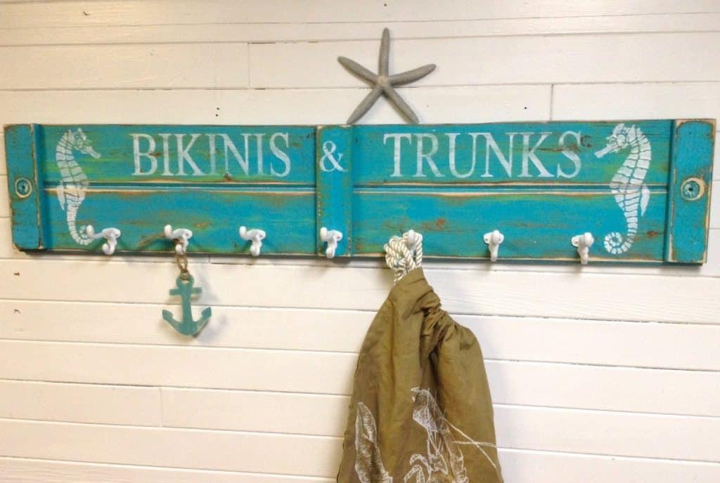 Entryway Organizers - beach house coat hooks