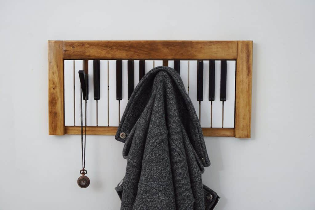 Entryway Organizers - awesome piano keys coat hangers