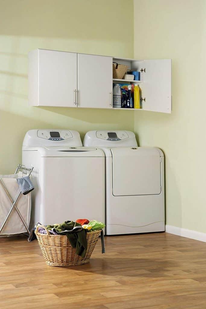 Laundry room organization ideas - wall cabinets