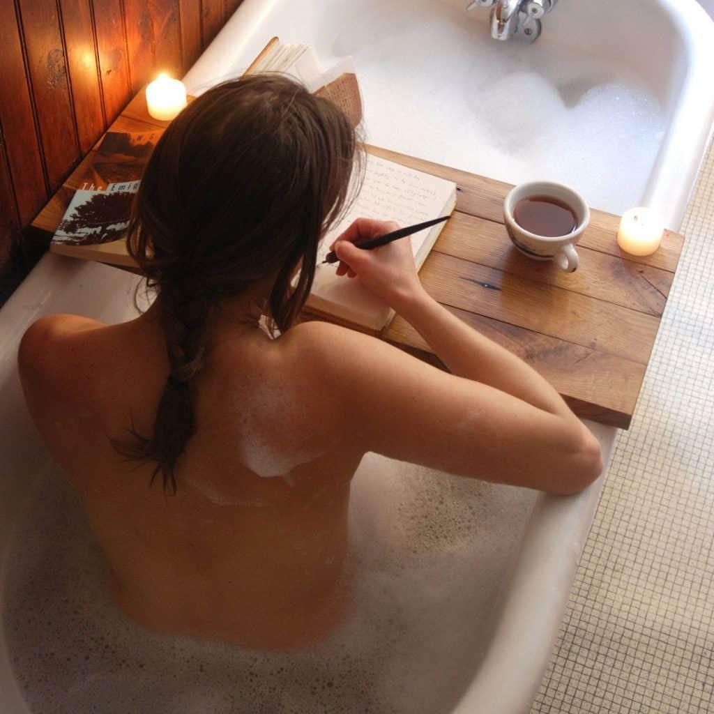 self care bathtub tray