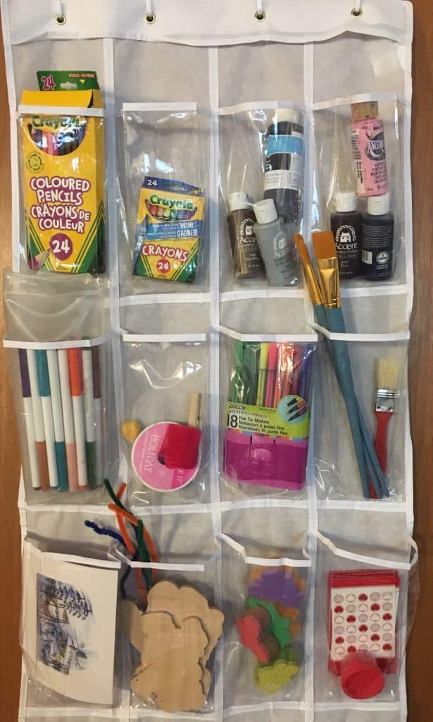 craft room storage ideas - hanging shoe organizer