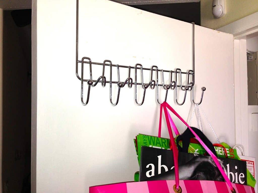 Small bedroom organization ideas - over the door hanger