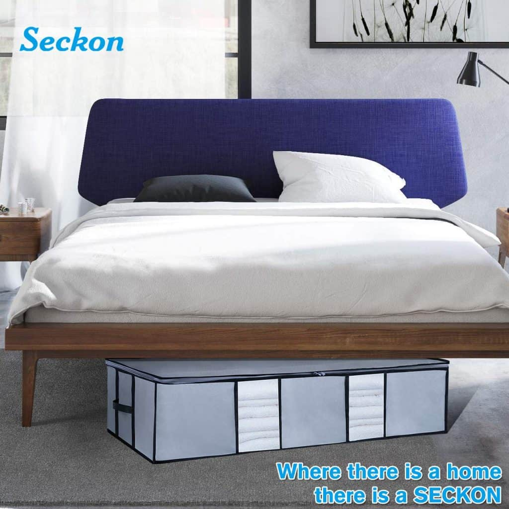 You need to make use of under bed storage if you have a small bedroom.