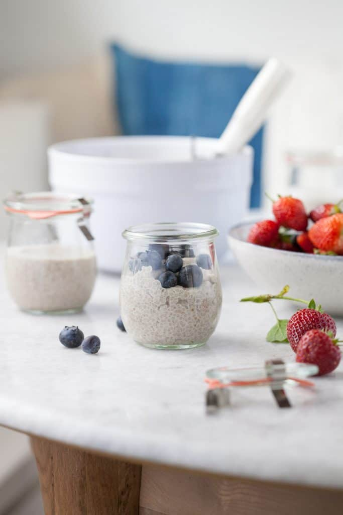 Paleo desserts - vanilla berry chia seed pudding
