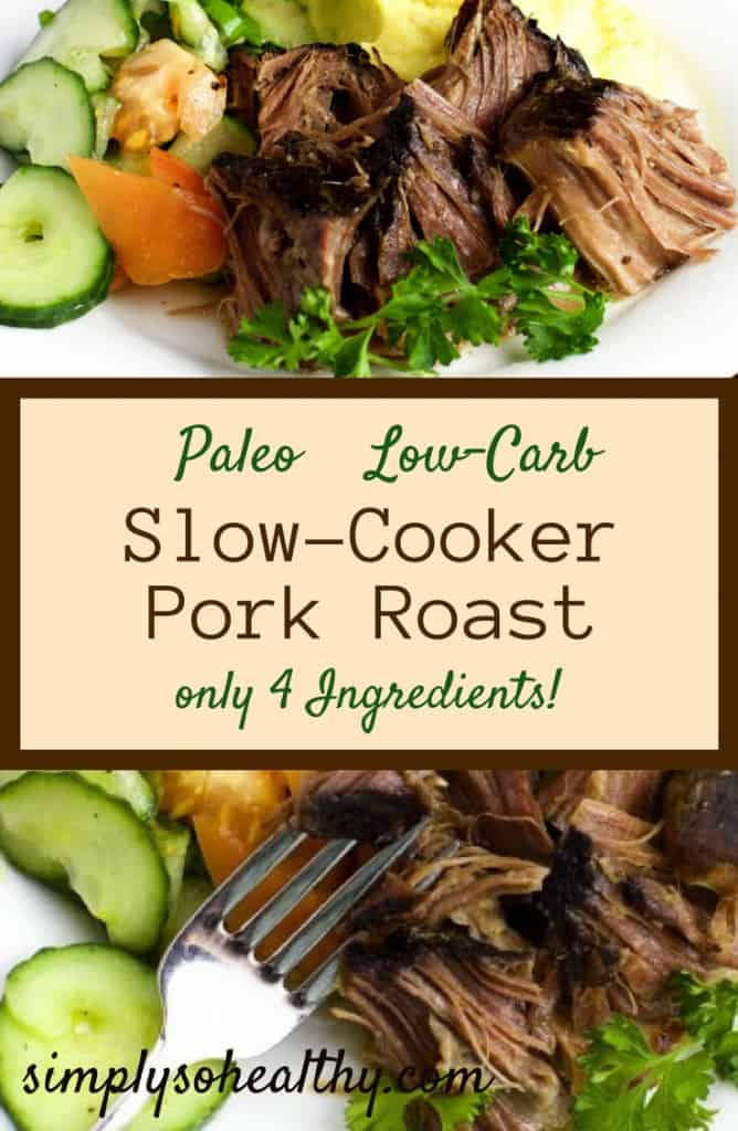 Paleo Dinners - slow cooker pork roast. Paleo and low carb