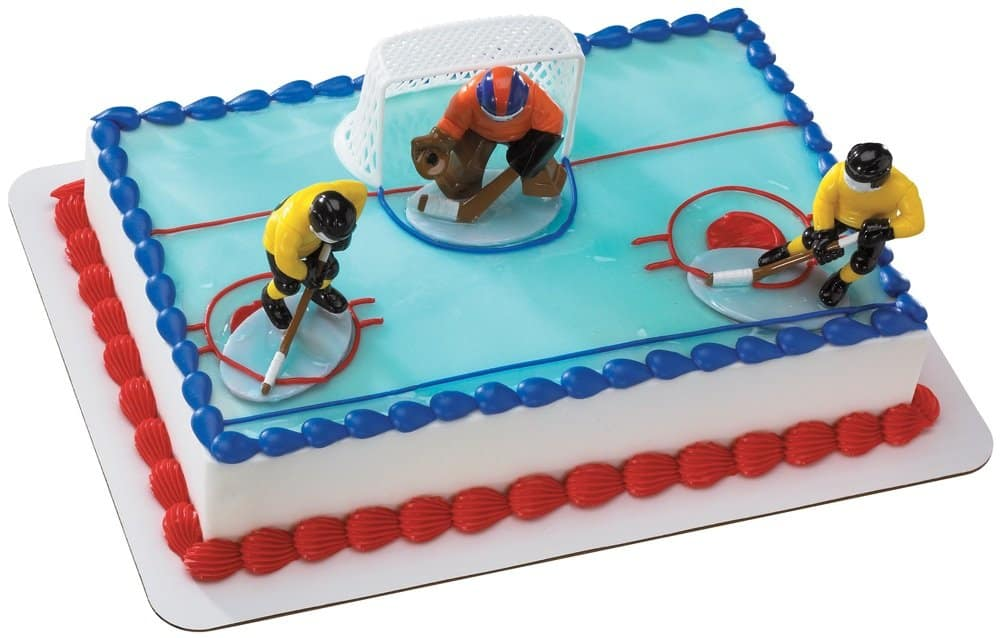 floor hockey can be a fun indoor winter birthday party idea.
