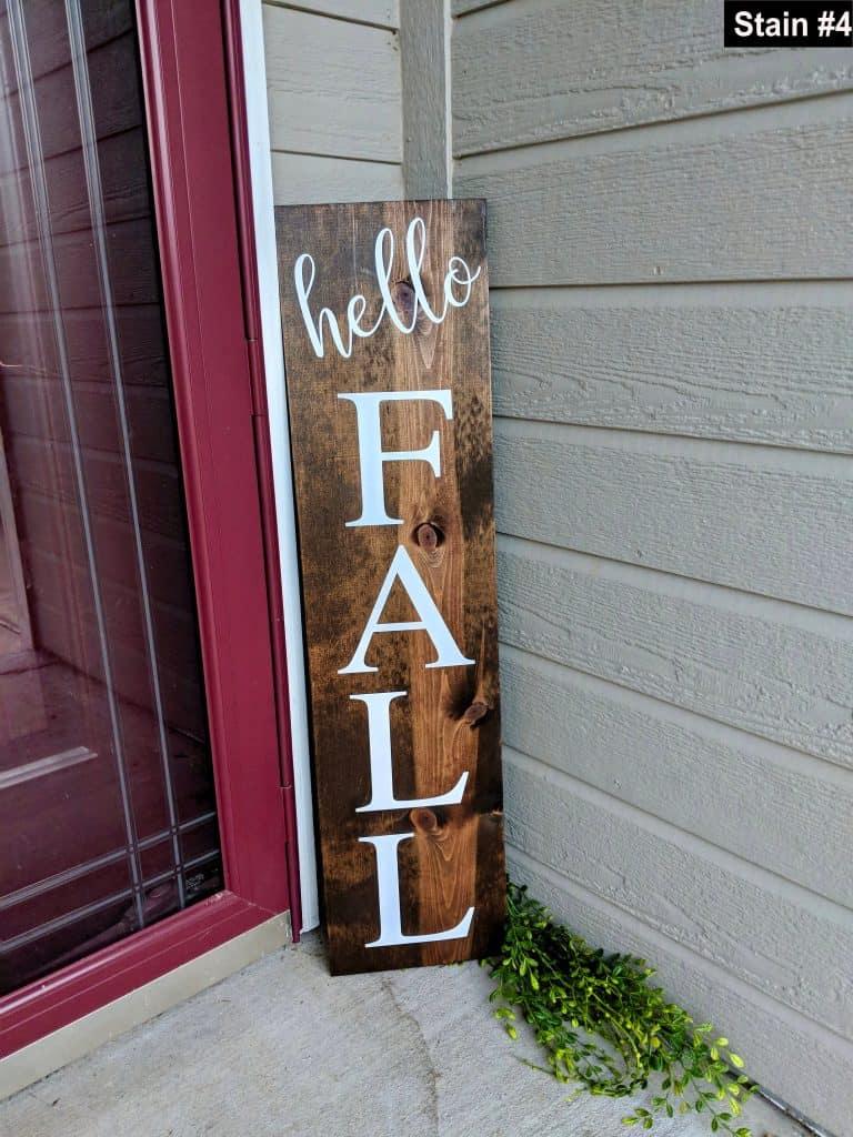 Fall Porch Decor Ideas - Hello Fall wooden sign