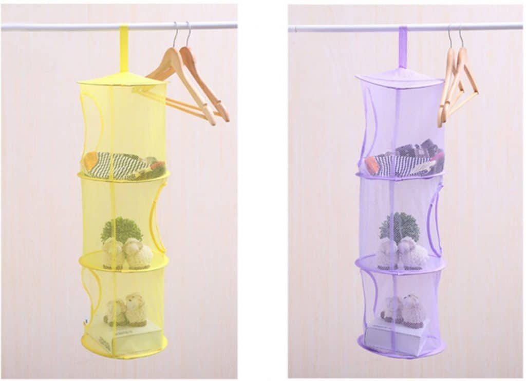 Toddler bedroom organization - hanging toy organizers