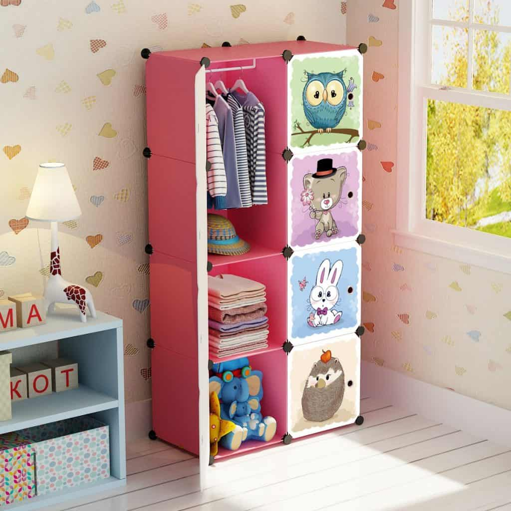 Toddler bedroom organization ideas - portable closet