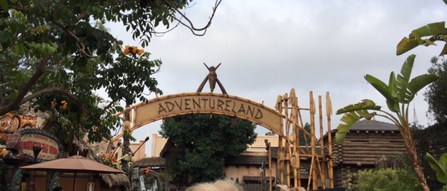 This shows the entrance to Adventureland within Disneyland park.