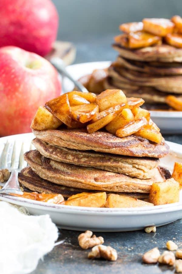 Paleo Pancakes recipes # 5 - apple cinnamon paleo pancakes from paleorunningmomma website