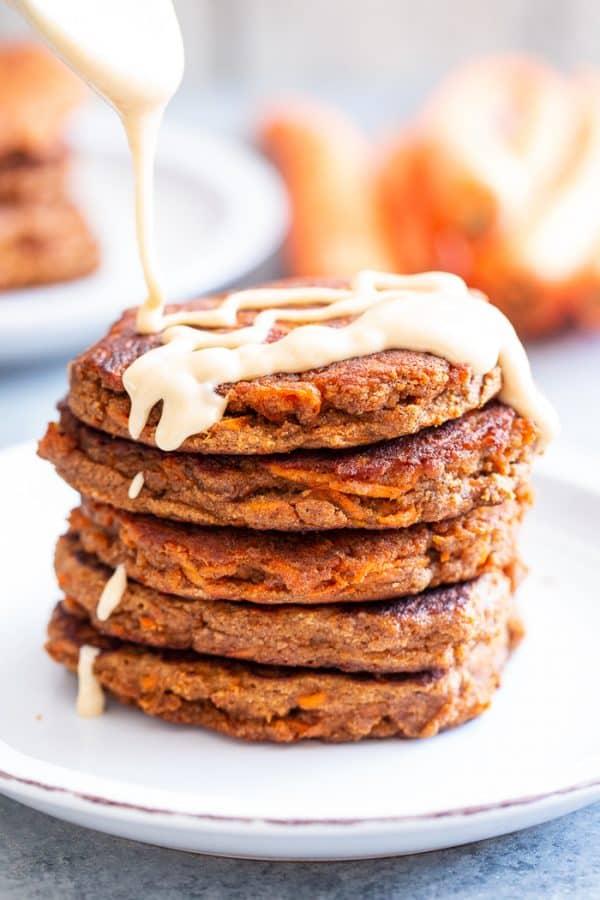 Paleo Pancakes carrot cake recipe from paleorunningmomma website