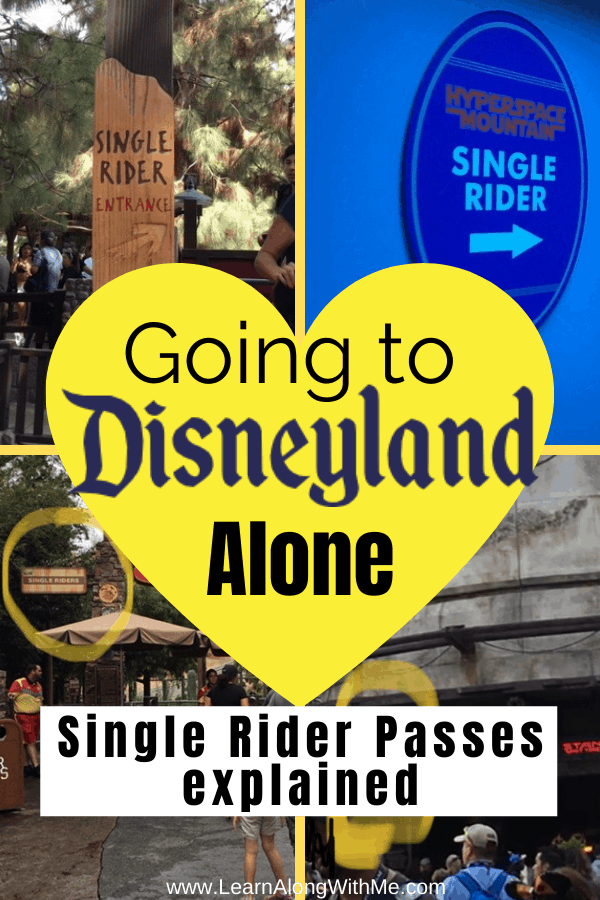 Going to Disneyland by yourself article including the benefits of the Disneyland single rider lines, and what rides have single rider lines at Disneyland and California Adventure.