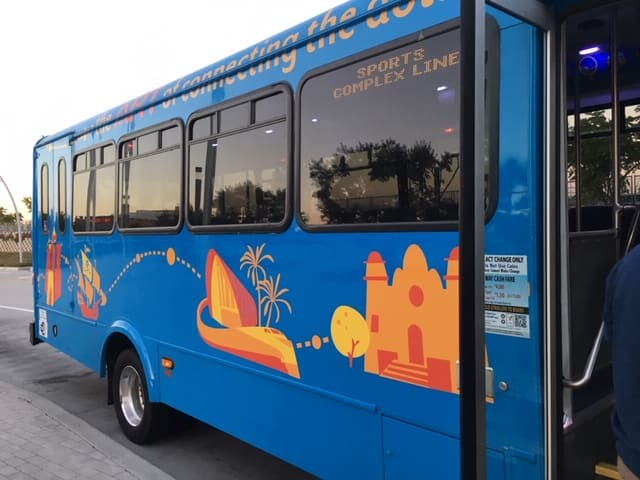 How to take Public Transit from Disneyland to Angels stadium using the ART shuttle