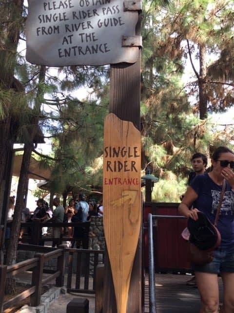 Grizzly River Run Single rider line entrance in Disney's California Adventure park