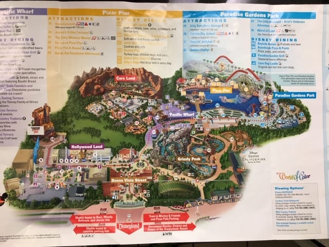 The map of Disney's California Adventure and this map shows you the rides at Disneyland that have the single rider lines