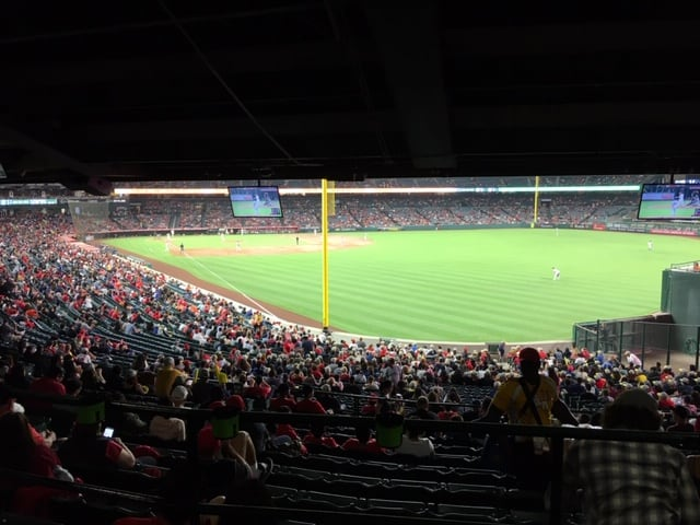 LA Angels - view from the cheap seats