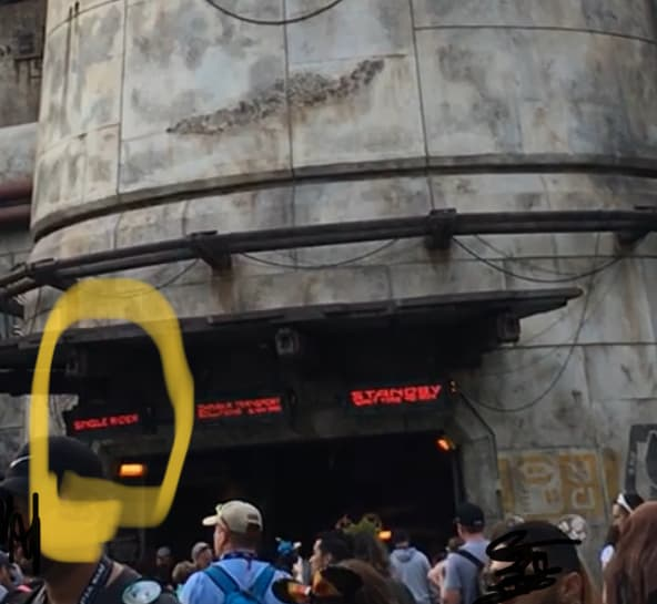 Going to Disneyland Alone - Single rider line entrance for Smugglers Run