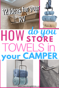 how to store towels in an rv