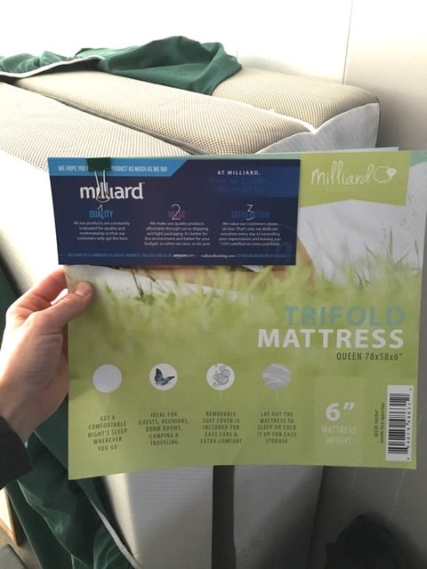 Trifold Foam Queen mattress by Milliard.  It is the 6-inch model and it's really comfortable