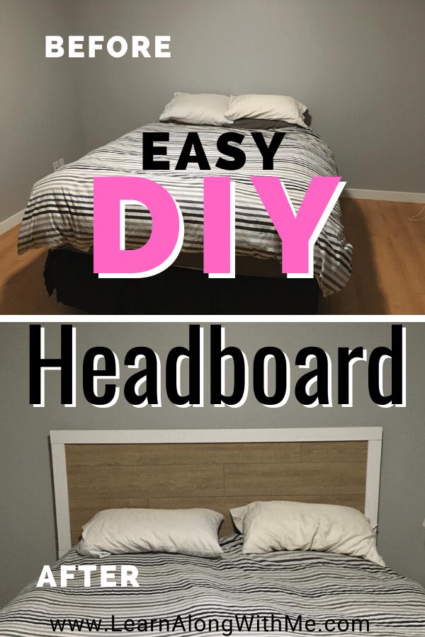 How to build a headboard. I built this cheap DIY headboard using laminate flooring