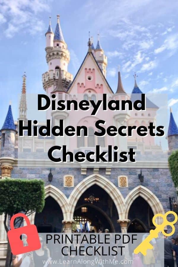 Disneyland Hidden Secrets checklist PDF