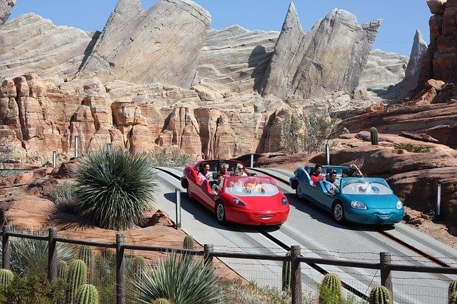 Disneyland Thrill Rides - I rated Radiator Springs Racers in 5th spot in my top 5 rides at Disneyland and California adventure