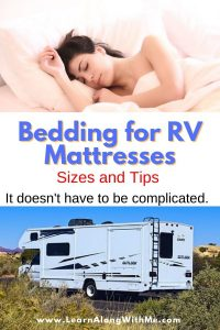 What size of RV bedding do I need