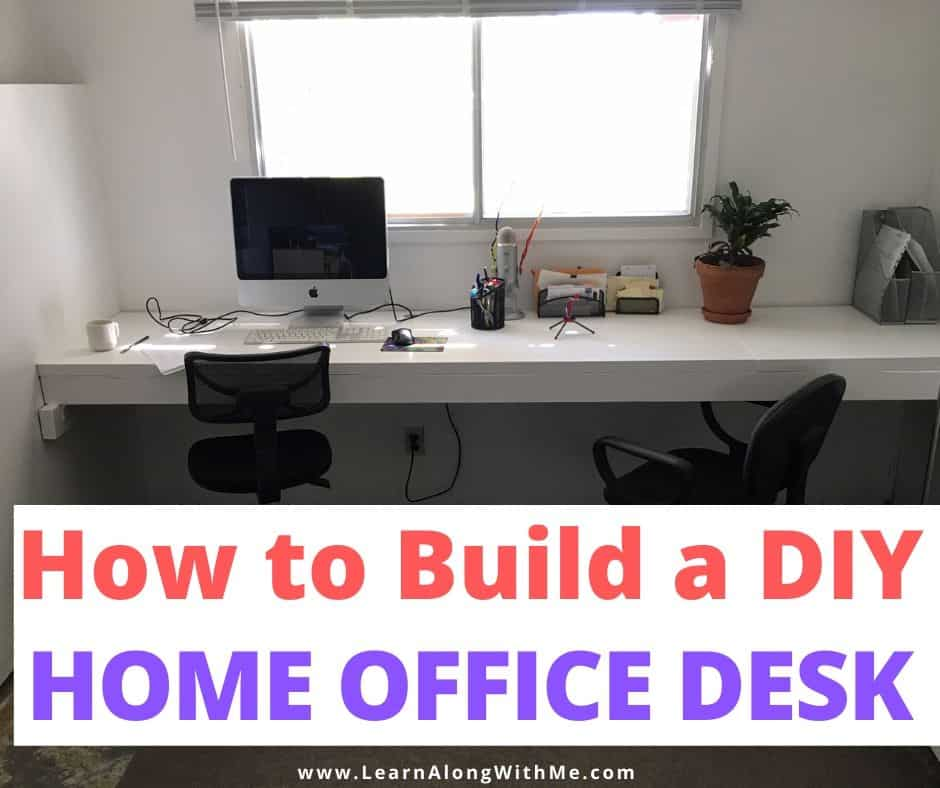 How to build a DIY Home Office desk (using old doors!)