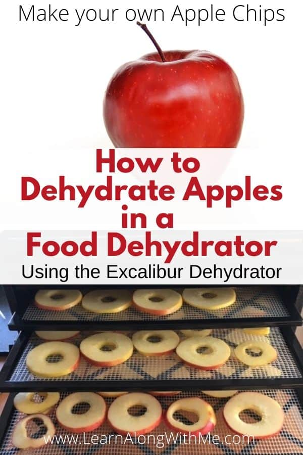 How to dehydrate apples in a food dehydrator - I used the Excalibur food dehydrator to make my own apple chips