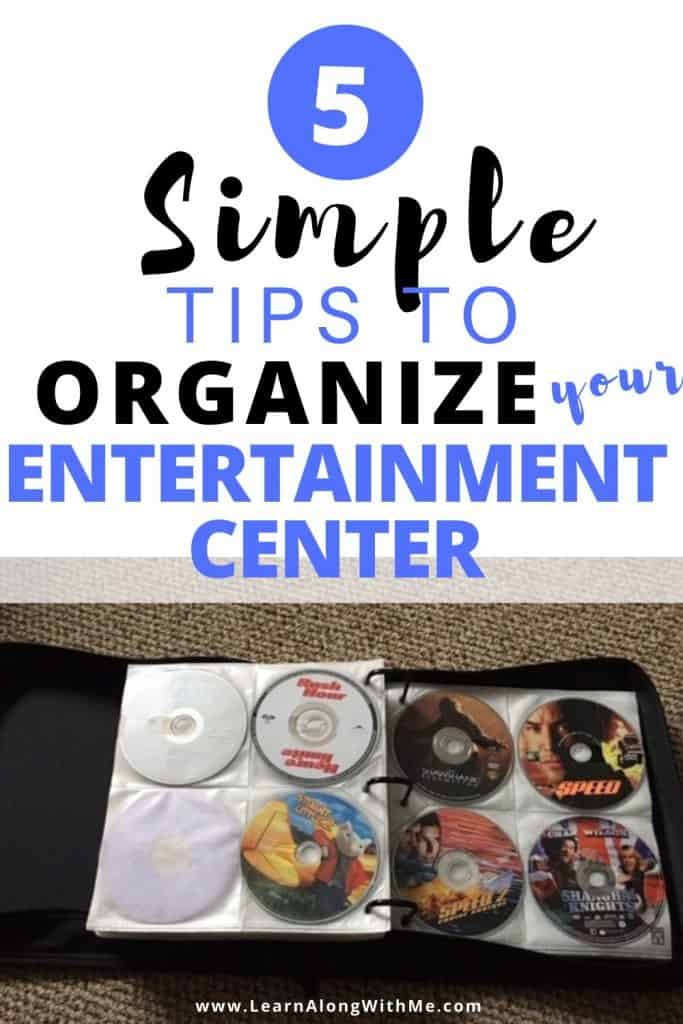 How to organize your entertainment center (5 simple tips)