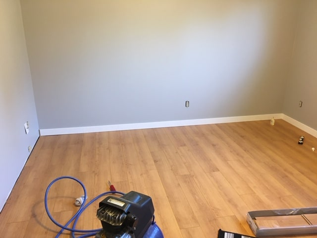 Bedroom Makeover DIY - almost completed the baseboards
