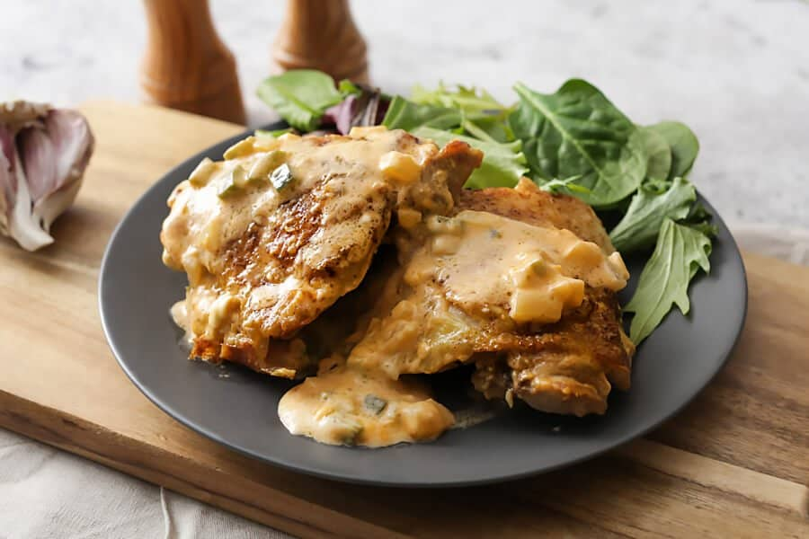 Keto Chicken skillet with jalapeno cheese sauce  RuledMe website