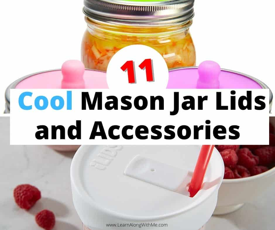 11 Cool and Intriguing Mason Jar accessories and mason jar lids. There are so many clever people out there making handy accessories.