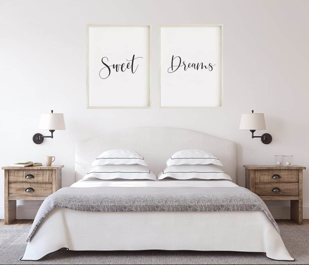 Bedroom makeover - art prints available on Etsy