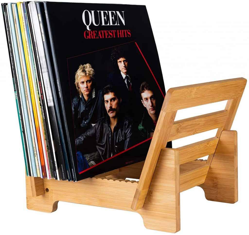 Organize entertainment center - rack and holder for vinyl records