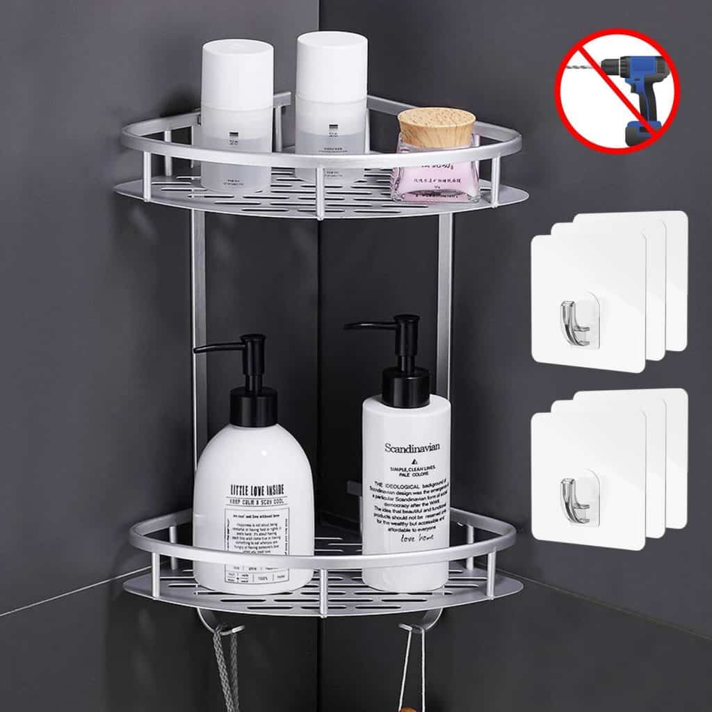 Shower organization ideas - 2 tier corner caddy by Flowmist