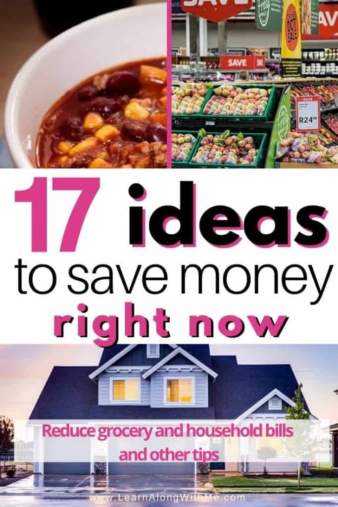 Ideas to save money right now