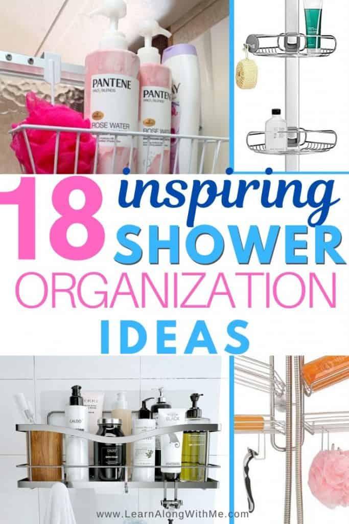 Shower Organization Ideas - featuring 18 shower organizers and shower caddies