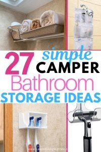 Rv bathroom storage ideas