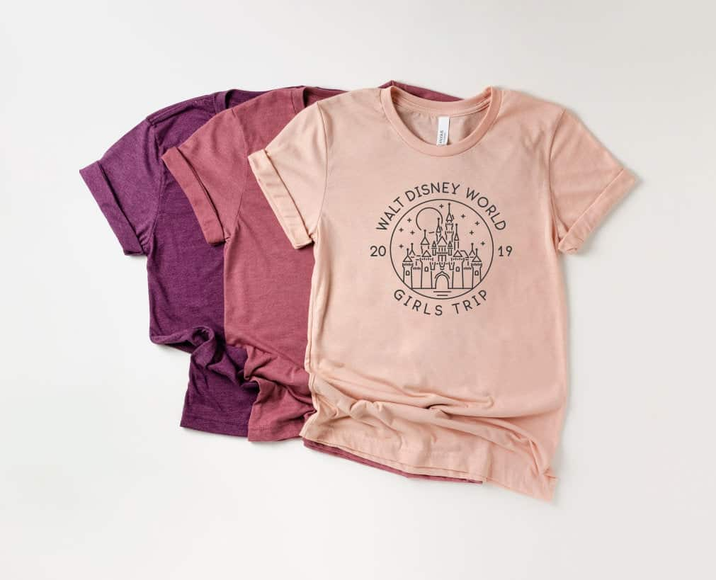 Disney Shirts for Women- Walt Disney World Girls Trip customizable year Disney tshirt. Very cute shirt.
