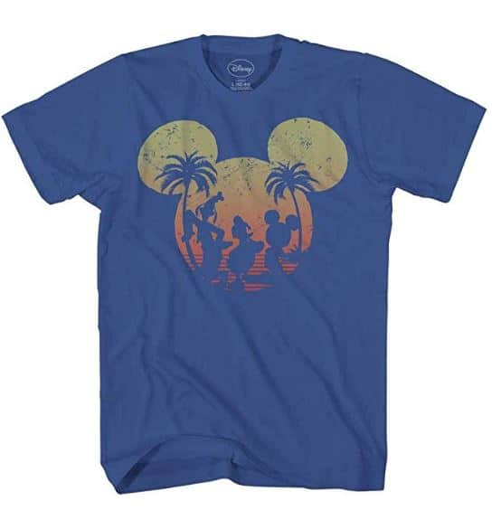 Disney Shirt  - a shirt with the silhouettes of mickey, donald and goofy inside a large silhouette of mickey's ears